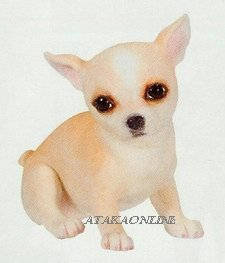 CHIHUAHUA-TAN-PUPPY-DOG FIGURINE CUTE (6627s)