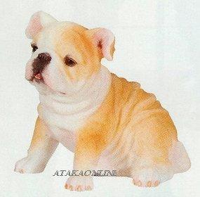 BULLDOG-PUPPY-DOG FIGURINE CUTE (6629s)