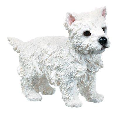 WEST HIGHLAND TERRIER-WESTIE-PUPPY-DOG FIGURINE CUTE (6321s)