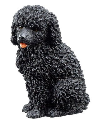 POODLE-BLACK-PUPPY-DOG FIGURINE CUTE (6317s)