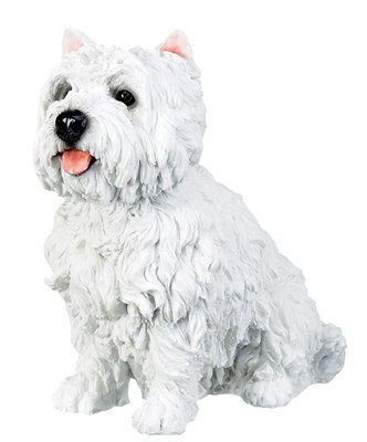 "7"" WEST HIGHLAND TERRIER-WESTIE-DOG FIGURINE-STATUE (6309s)"