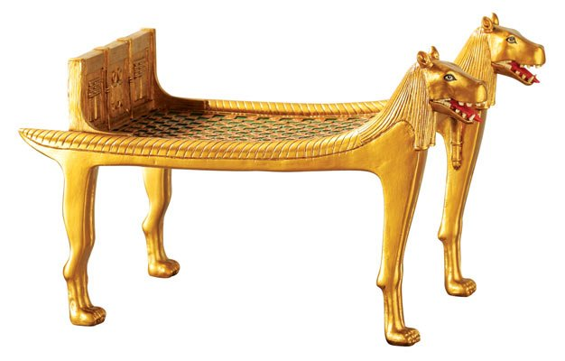 PHARAOH'S HIPPO BED-GOLDEN-FIGURINE-STATUE (6400s)