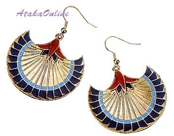 PAPYRUS EARRINGS-EGYPT-EGYPTIAN FINE JEWELRY-NEAT-SALE (2306s)
