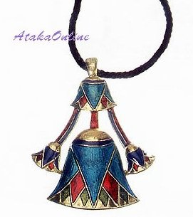 "EGYPTIAN JEWELRY-LOTUS PENDANT-26""CORD NECKLACE (2316s)"