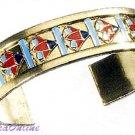 "24"" LOTUS w BEADS NECKLACE and LOTUS BRACELET-Egyptian Fine Jewelry Set (2325-2327)"