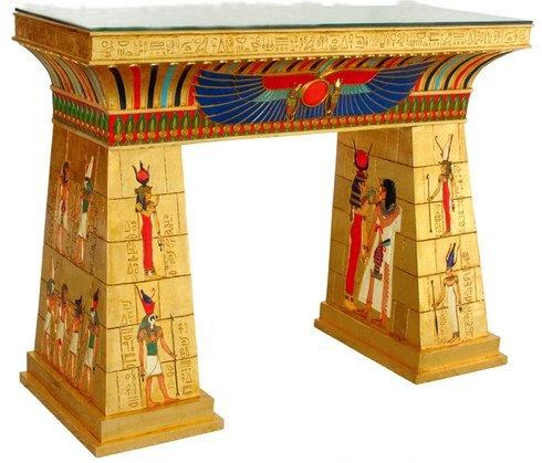 EGYPTIAN PHARAOH'S BAR TABLE / EGYPT KING FURNITURE (6771)