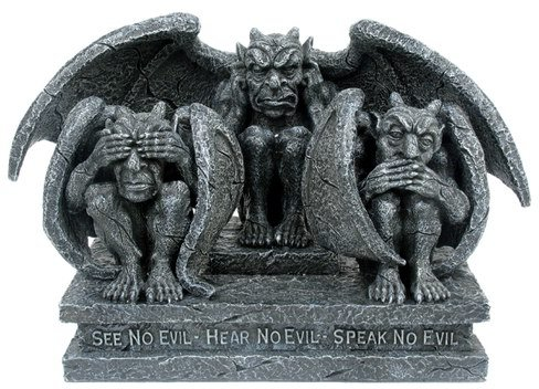 SEE-HEAR-SPEAK NO EVIL-GARGOYLES-FIGURINE-STATUE (6685)