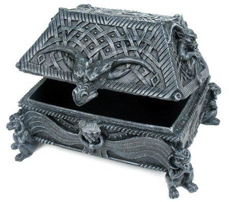 GARGOYLE JEWELRY BOX-FIGURINE-STATUE (6660)