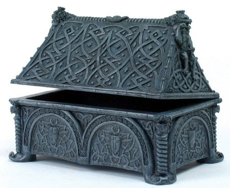 GARGOYLE JEWELRY-TREASURE BOX-FIGURINE-STATUE (6655)
