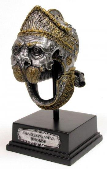 KNIGHT HELMET-BURGONETOF ALLA ROMANA ANTICA-(1550-1555-FIGURINE-STATUE (6668)