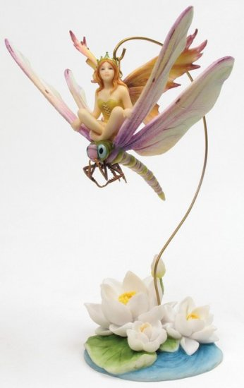 DRAGONFLY HANGING FAIRY-FIGURINE-STATUE- by Jody Bergsma (6817)