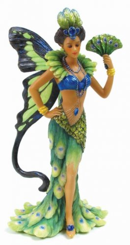 PEACOCK FAIRY-FIGURINE-STATUE (6705)