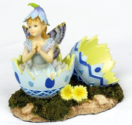 LITTLE HATCHING FAIRY-EASTER-FIGURINE-STATUE (6679)