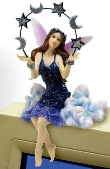 FAIRY W CELESTIAL- PC TOPPER-FIGURINE-STATUE (6694)