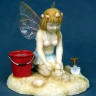 LITTLE FAIRY PLAYING AT BEACH-FIGURINE-STATUE (6782)