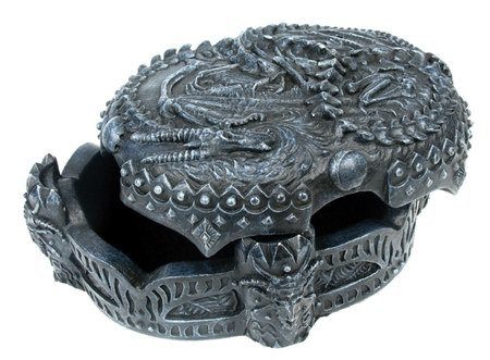 DRAGON JEWELRY BOX-FIGURINE-STATUE (6658)