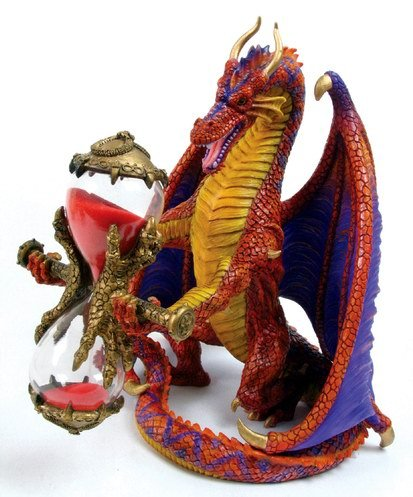 DRAGON SANDTIMER-HOUR GLASS-FIGURINE-STATUE (6706)