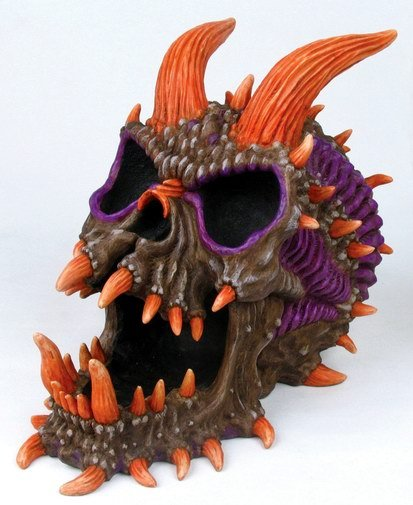 DEMON SKULL ASHTRAY-FIGURINE-STATUE (6643)