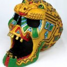AZTEC JAGUAR SKULL ASHTRAY-FIGURINE-STATUE (6647)