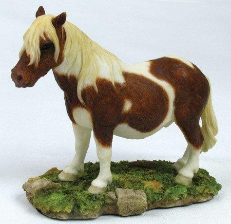 SHETLAND PONY-HORSE-FIGURINE-STATUE (6664)