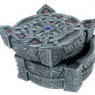 CELTIC KEEPSAKE JEWELRY BOX-FIGURINE-STATUE (6659)