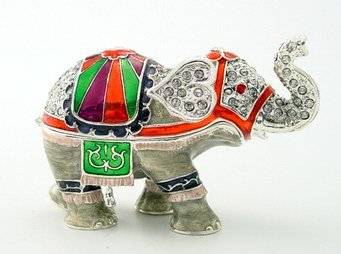 ELEPHANT JEWELRY BOX-FIGURINE-STATUE (3333)