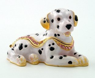 DALMATIAN JEWELRY BOX-FIGURINE-STATUE (3330)