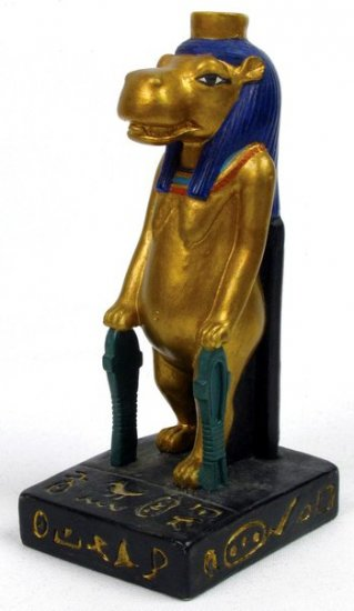 EGYPTIAN TAWERET-HIPPO-FIGURINE-STATUE (6757)