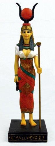 EGYPTIAN HATHOR-DAUGHTER OF SUN GOD-FIGURINE-STATUE (6703s)