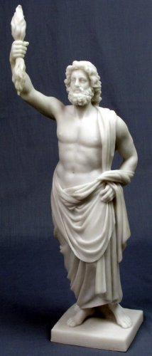 JUPITER-ZEUS-GREEK FIGURINE-STATUE (6820)