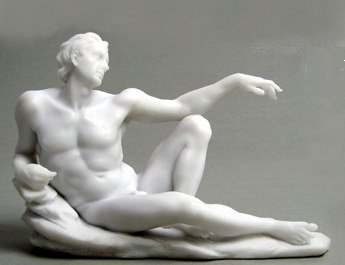 THE CREATION OF MAN I-GREEK FIGURINE-STATUE (6709)