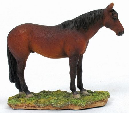 THOROUGHBRED STALLION-HORSE-FIGURINE-STATUE (6662)
