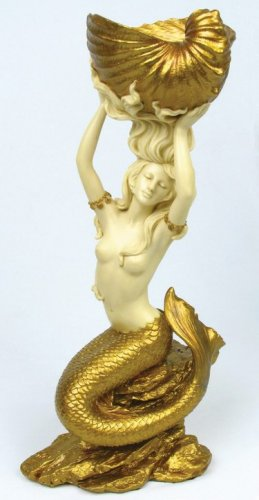 ART NOUVEAU MERMAID CANDLEHOLDER-PRETTY LADY-WOW #6711