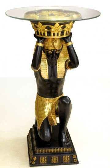 EGYPTIAN KING TUT TABLE-WOW NEW (6954)