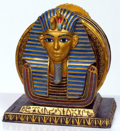 KING TUT COASTER SET EGYPTIAN FIGURINE (6948)