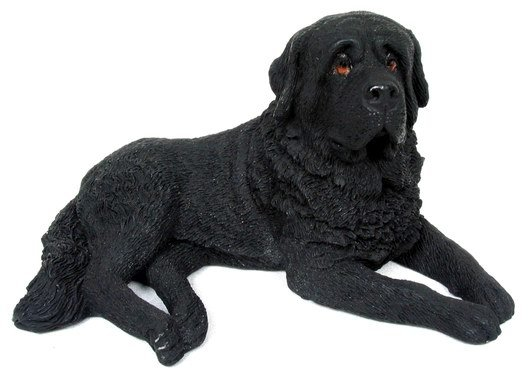 BLACK ST. BERNARD DOG STATUE-FIGURINE (6827)