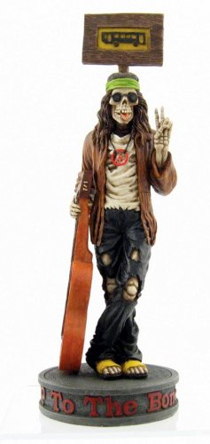 HIP POP SKELETON W GUITAR STATUE-FIGURINE (6886)