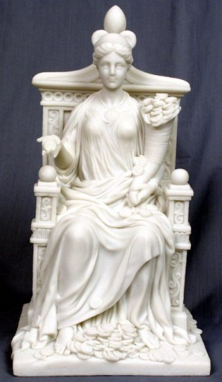 FORTUNA-GODDESS OF LUCK-GREEK MYTHOLOGY-ROMAN FIGURINE (6904)