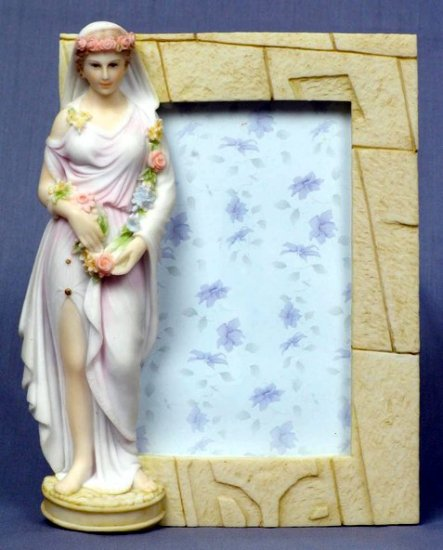 SPRING LADY PICTURE FRAME-GREEK MYTHOLOGY-ROMAN FIGURINE (6838)