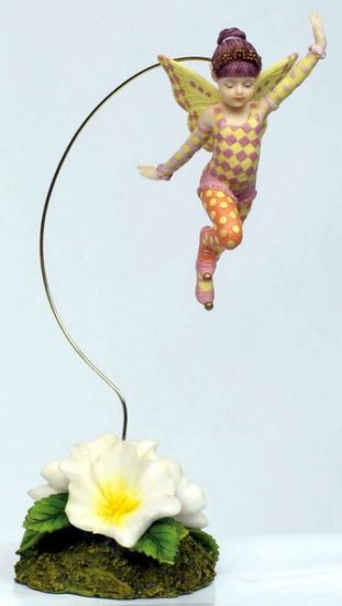 LITTLE JESTER FAIRY DANGLER-FIGURINE-STATUE BY DEBBY KASPARI (6978)