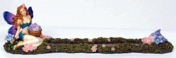 FLOWER FAIRY INCENSE BURNER-FIGURINE-STATUE BY DEBBY KASPARI (6983)
