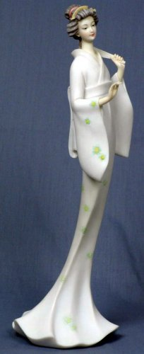 JAPANESE GEISHA GIRL ELEGANT STATUE-FIGURINE (6859)