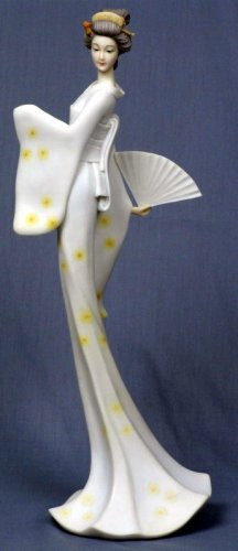 JAPANESE GEISHA GIRL GRACEFUL STATUE-FIGURINE (6857)