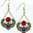 ANCIETN EGYPTIAN-WINGED SCARAB EARRING (2441S)