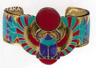 ANCIETN EGYPTIAN-WINGED SCARAB BRACELET (2442S)