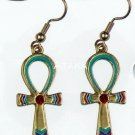 ANCIENT EGYPTIAN ANKH EARRING  (2450S)