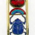 ANCIENT EGYPTIAN SCARAB CARTOUCHE PENDANT NECKLACE (2452S)