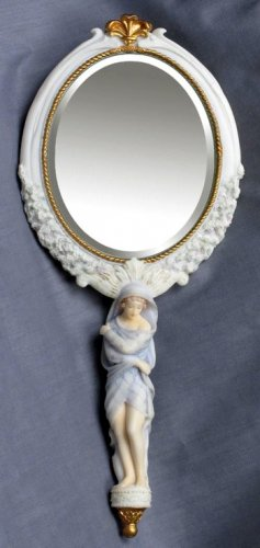 WINTER LADY HAND MIRROR-GREEK MYTHOLOGY-ROMAN FIGURINE (6845)