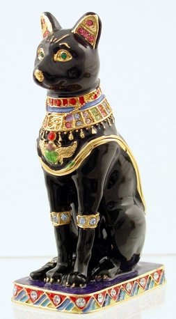 BASTET JEWELED BOX-EGYPTIAN (3377)
