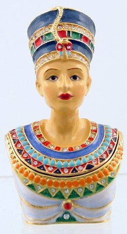 NEFERTITI JEWELED BOX-EGYPTIAN (3380)